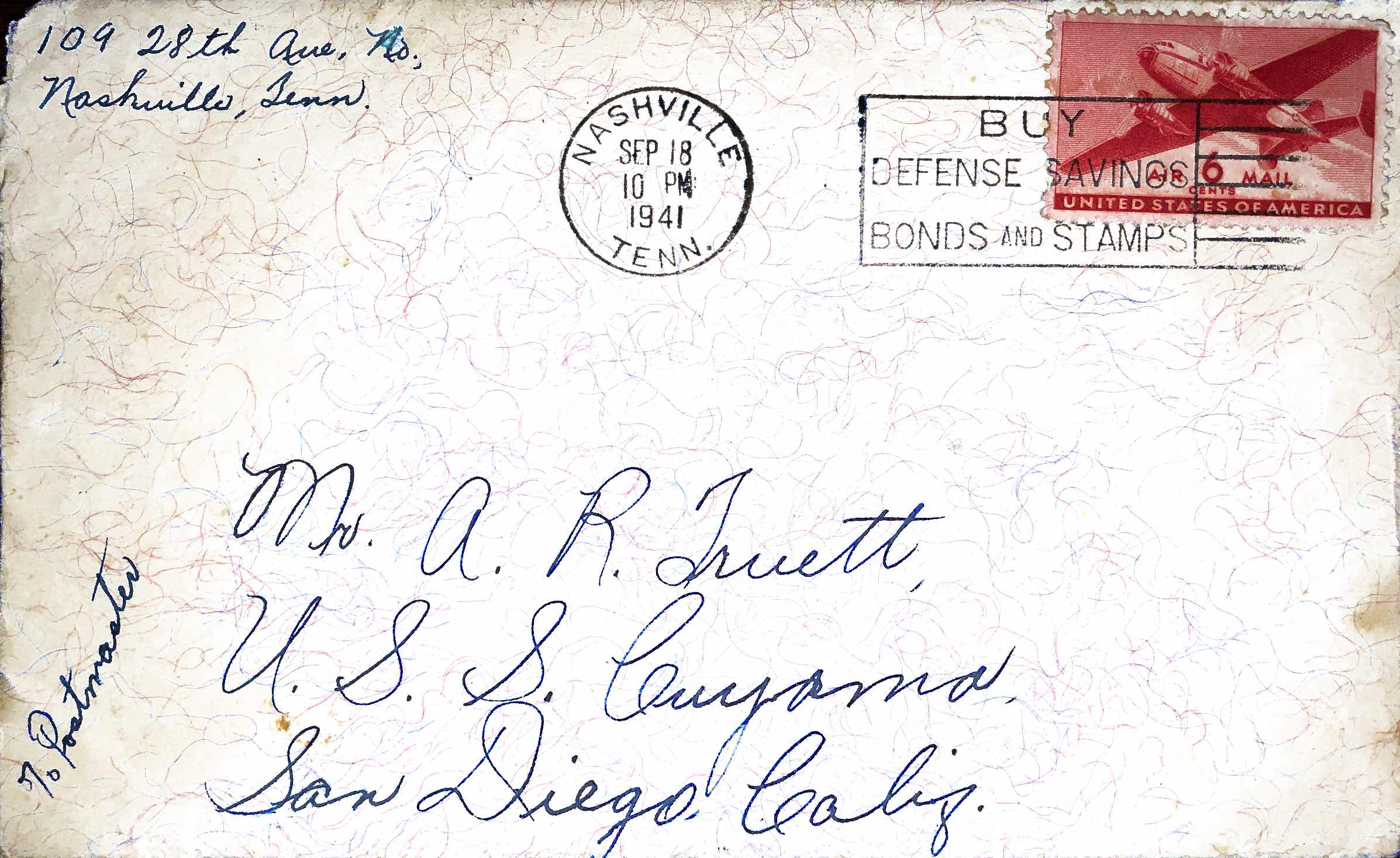 September 18, 1941 Dearest Abb