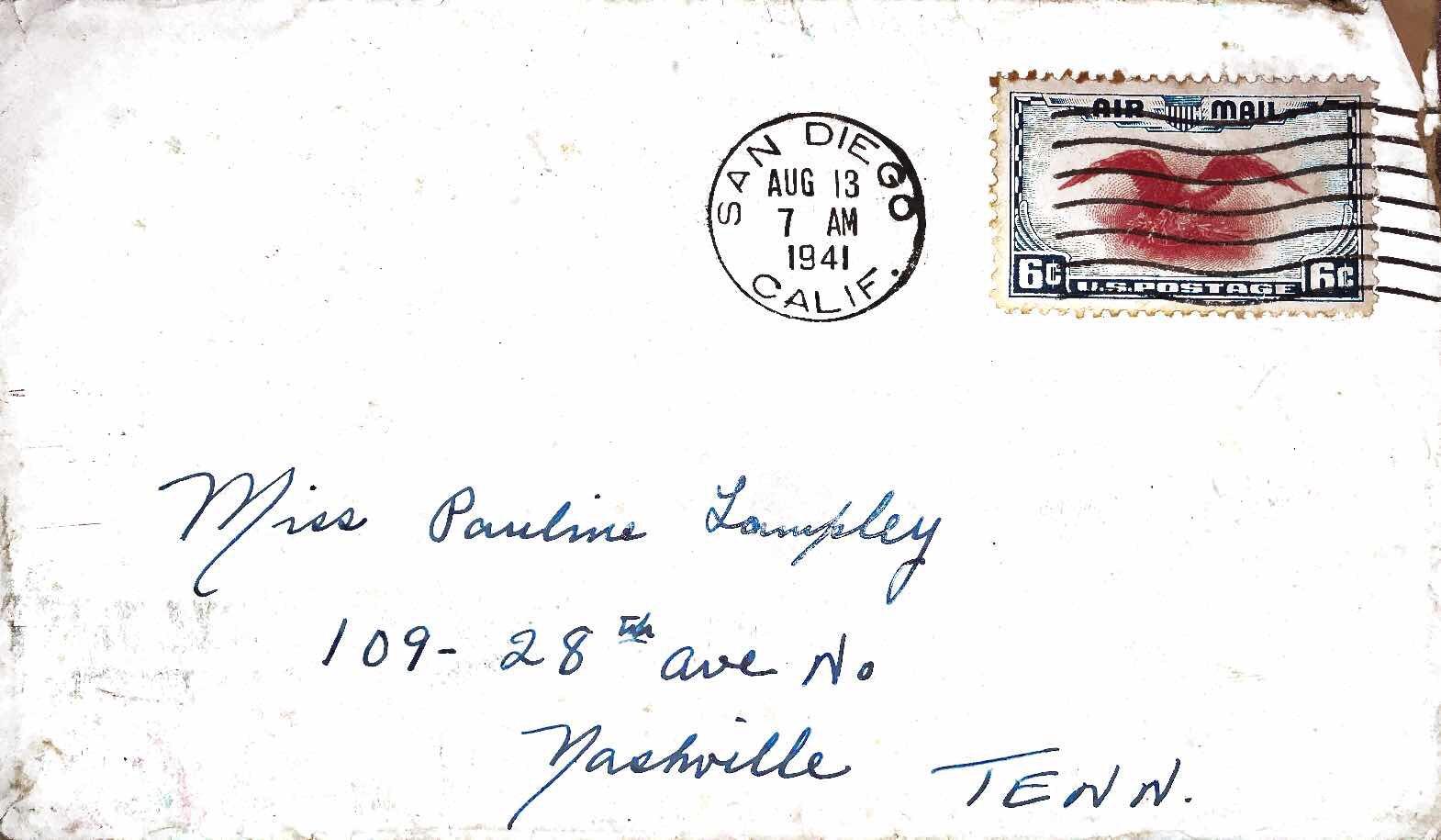 August 12, 1941 Dear Pauline