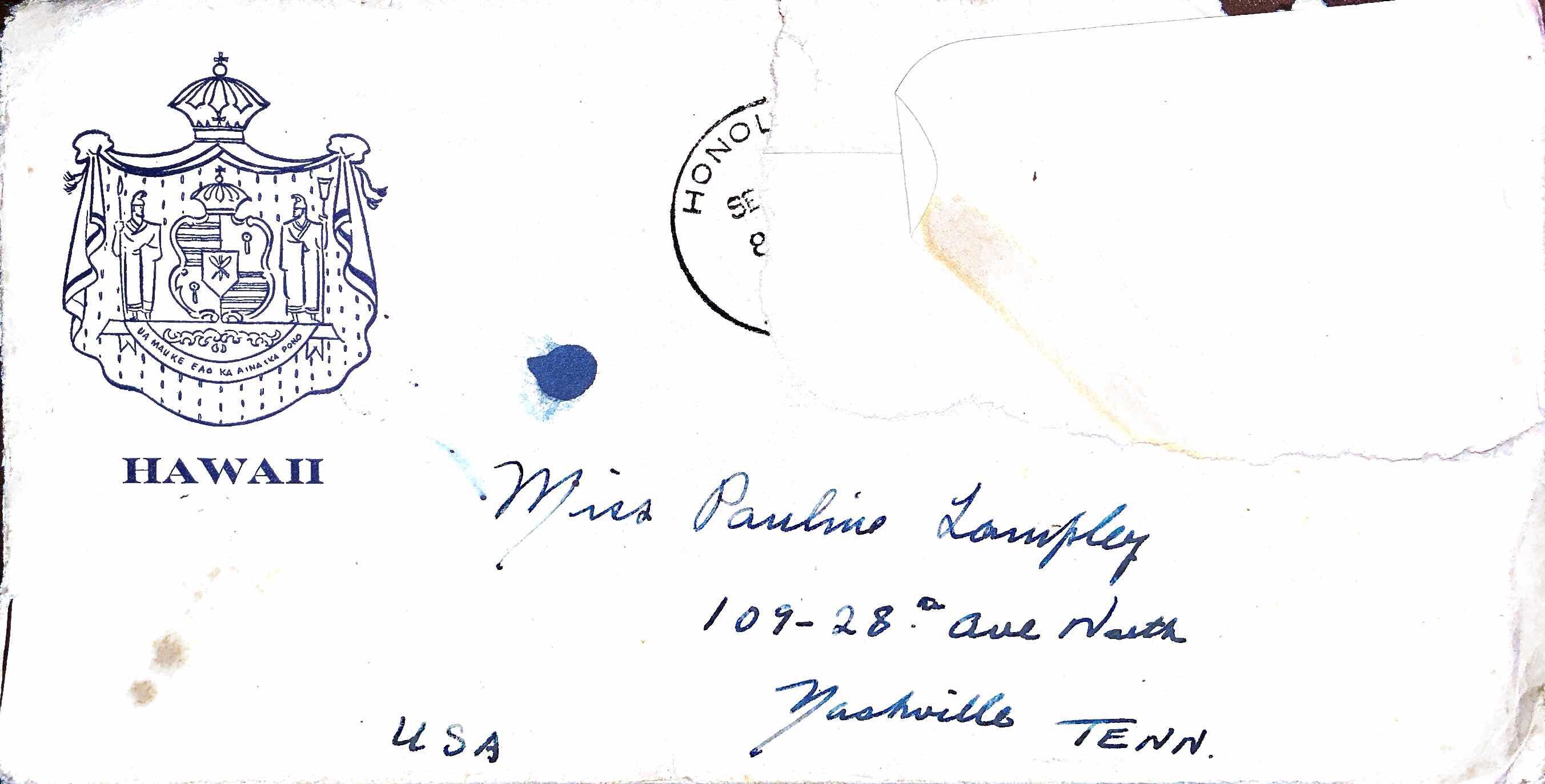 September 10, 1941 Dear Pauline