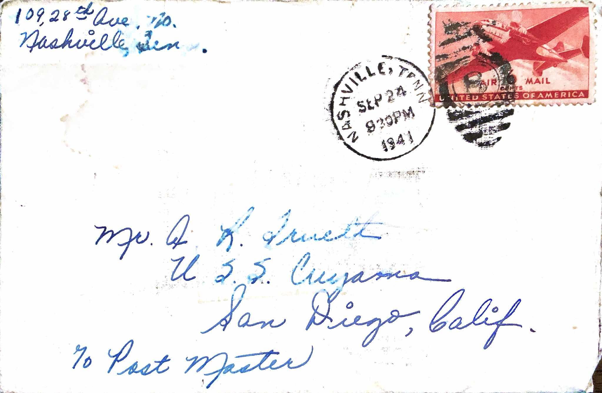 September 24, 1941 Hello Darling
