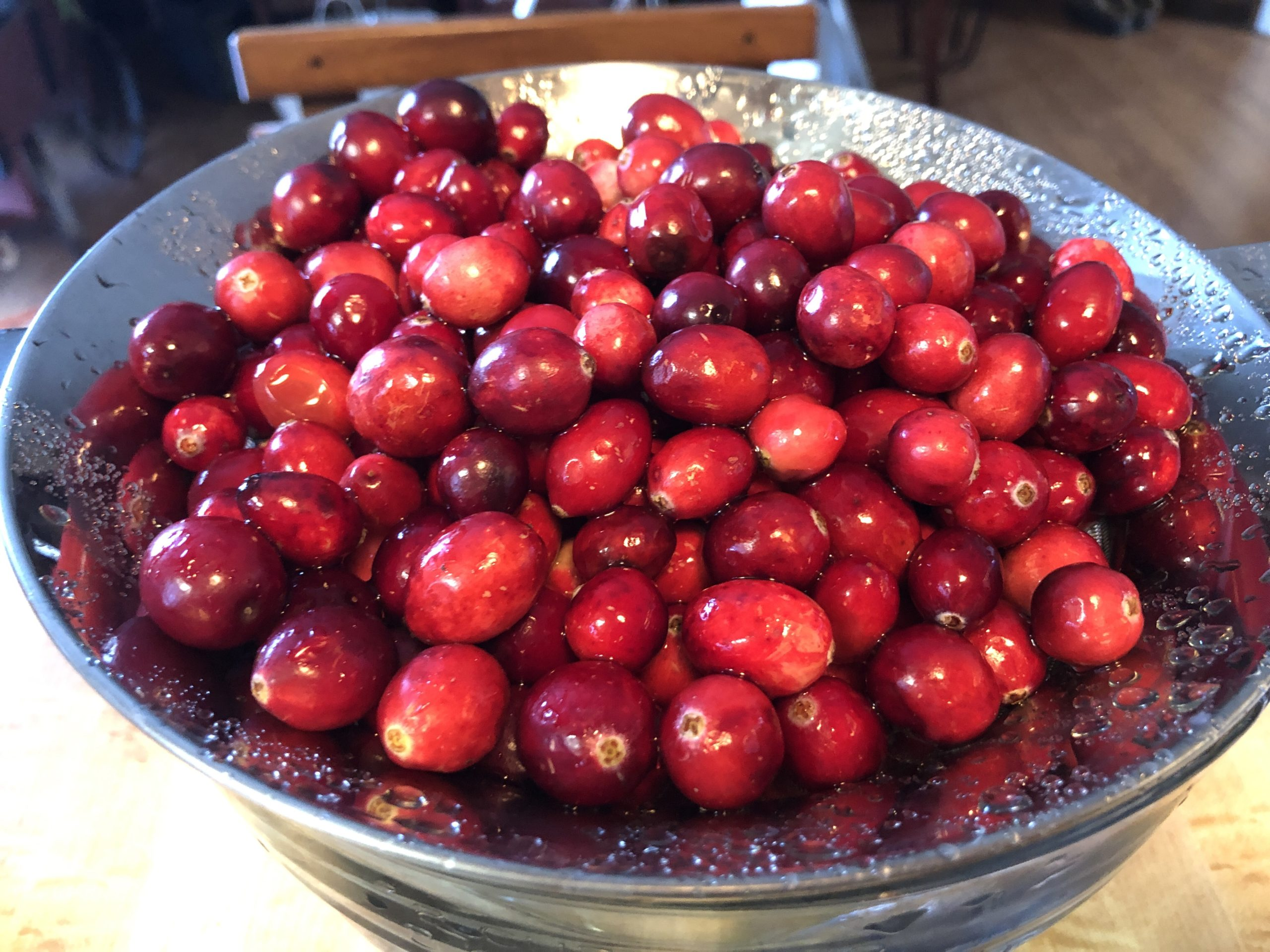 Cranberries & Pecans in Sherry