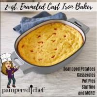 2-qt. Enameled Cast Iron Baker