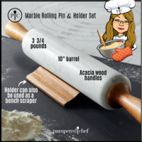 Marble Rolling Pin & Holder Set