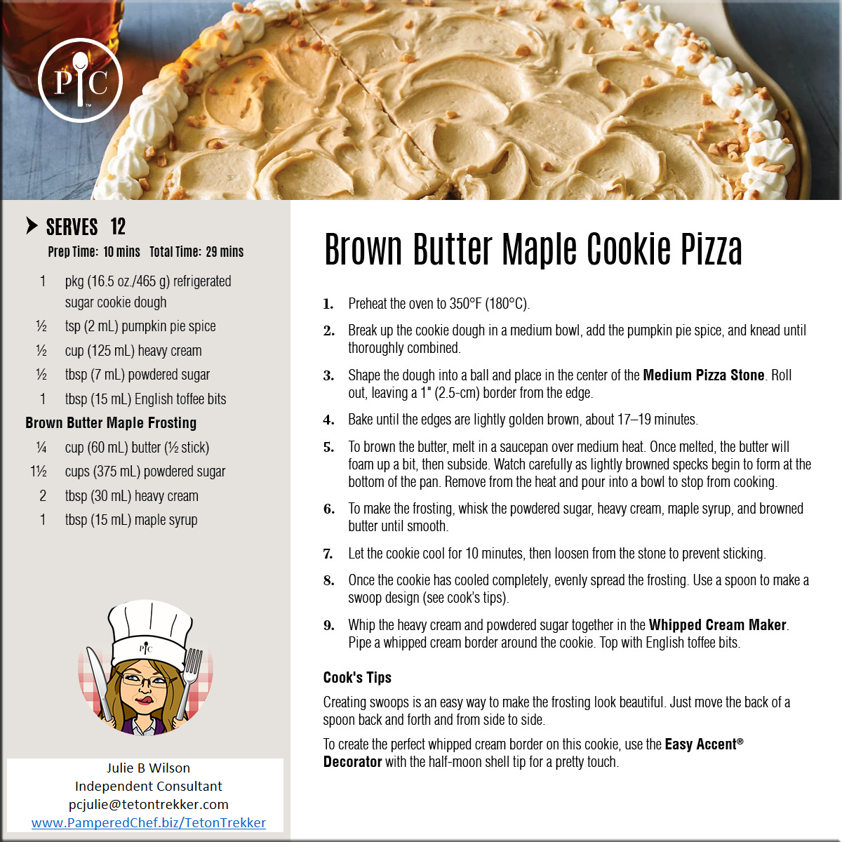 Brown  Butter Maple Cookie Pizza