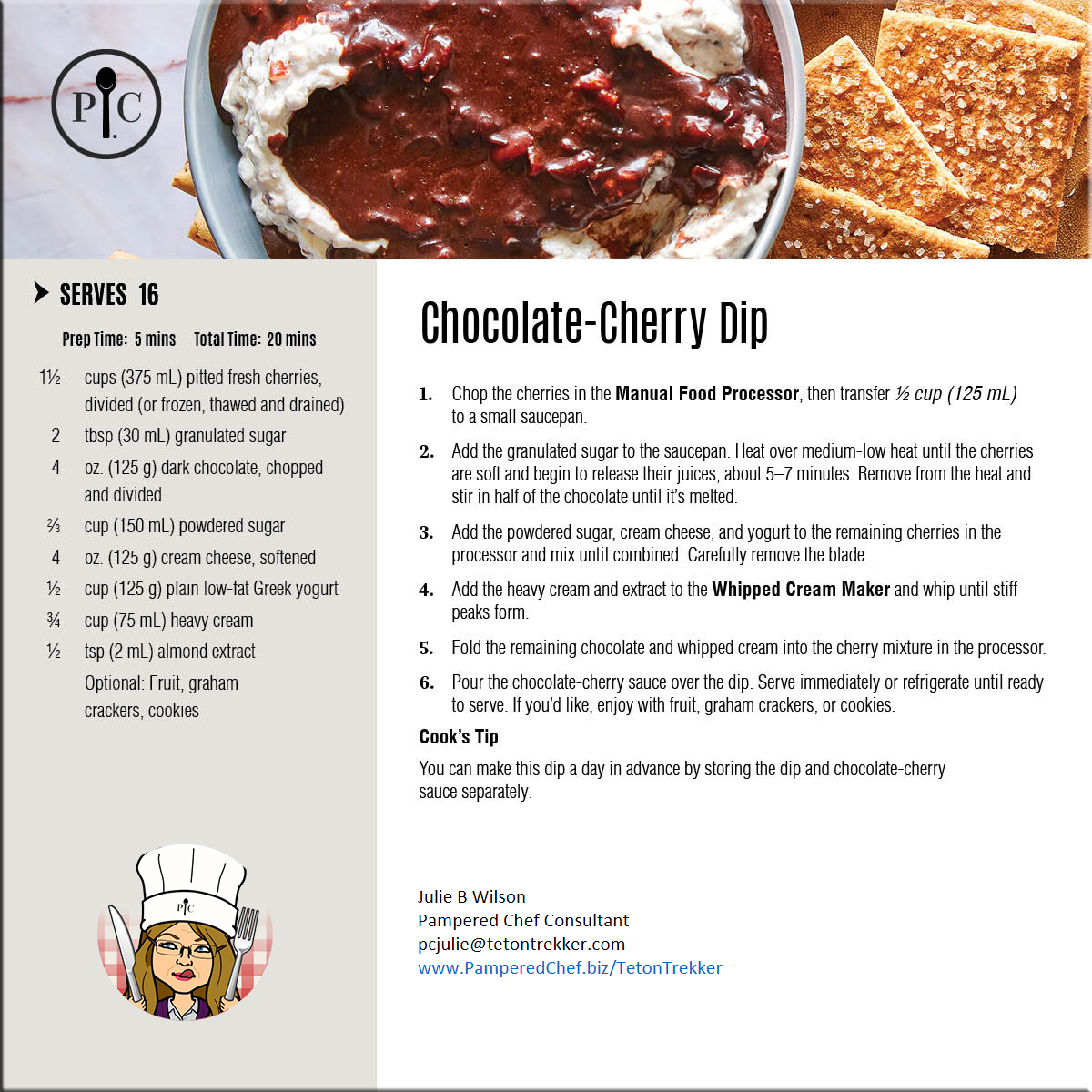Chocolate-Cherry-Dip