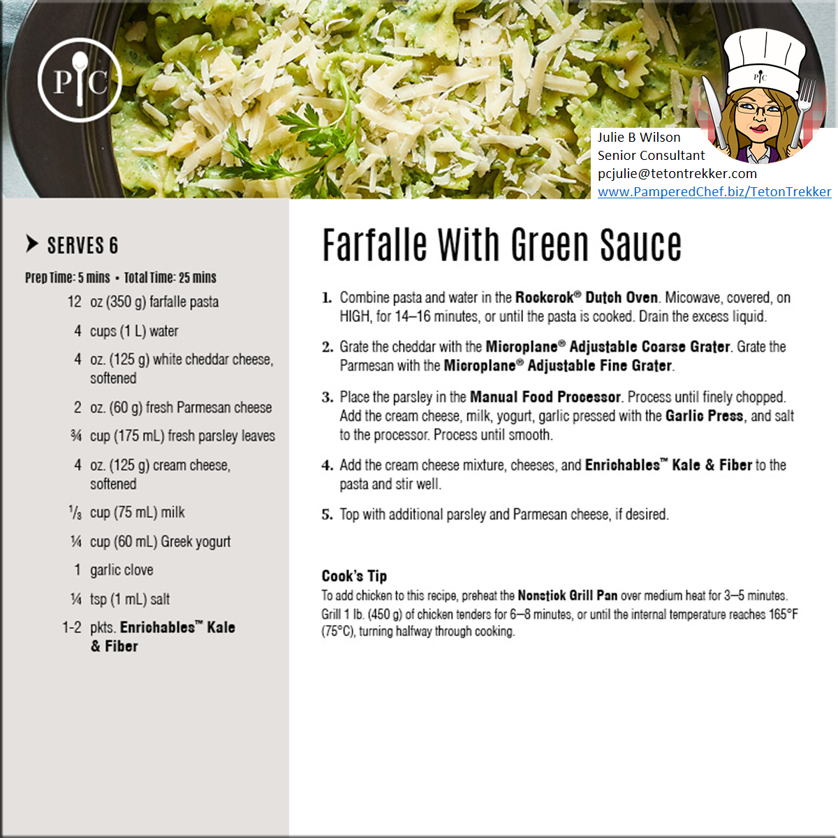 Farfalle-with-Green-Sauce