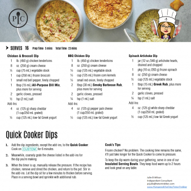 Quick Cooker Dips