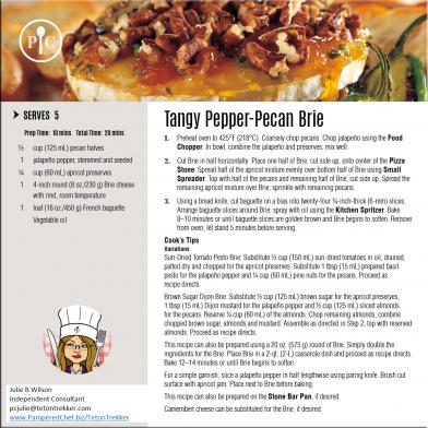 Tangy Pepper-Pecan Brie
